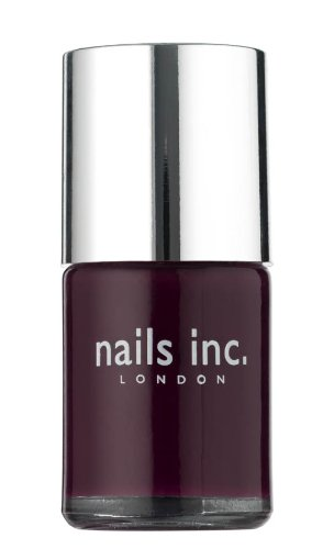 Nails Inc Savile Row  Dark Glossy Plum Nail Polish - 10 ml