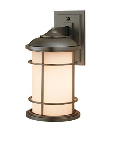 Feiss 1-Light Lighthouse Outdoor Sconce, Burnished Bronze