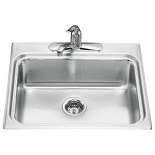Kohler Ballad K-3258-4-NA Kitchen Single Bowl Sinks