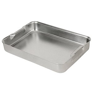 Aluminium Baking Dish with Handles 31.5cm x 21.5cm | Genware Roasting Dish, Baking Tray, Roasting Tray | Genware Baking Dish
