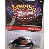 Mattel Hot Wheels 1/64 Scale Diecast Larry's Garage Series 11 of 20 3-window 1934 Ford in Color Black