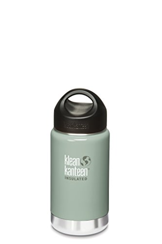 Klean Kanteen Wide Insulated River Rock Water Bottle With Stainless Loop Cup, 16-Ounce front-1022807
