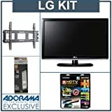 LG 32LK330 32 inch Class LCD HDTV, with Advanced Kit (2 HDMI Cables, 1 RGB  ....