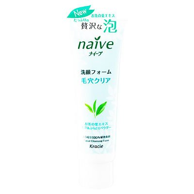 ナイーブ 洗顔フォーム(お茶の葉エキス配合) 110g