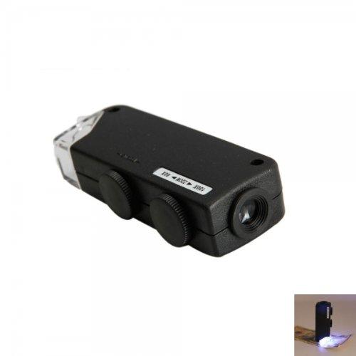 Usa Seller 60X - 100X Micro Adjustable Led Light Lamp Magnifier Loupe