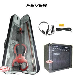Fever Solid Wood Brown Electric Violin With 20 Watts Amplifier Vle-Bw-Amp