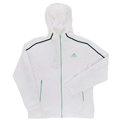 Adidas Ragazze Felpa con cappuccio-12Y, White, M