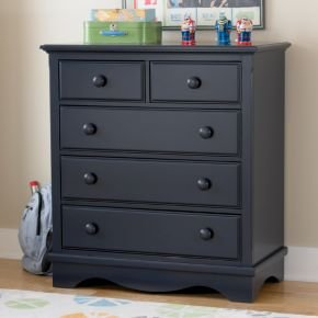 Cheap Kids Dressers: Kids Midnight Blue 2 Over 3 Drawer Dresser (B004KZHMX4)