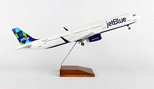 SKR8321 Skymarks Jetblue A321 1:100 Mint W:Wood Stand & Gear Model Airplane (Jetblue Model Plane compare prices)