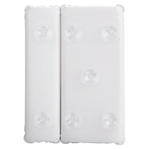 Groten Anti Rutsch Badewannenkissen Nackenkissen Schaumstoffkissen Komfort Badekissen für Badewanne mit 7 Saugnäpfen aus Weichem PVC Schwamm -