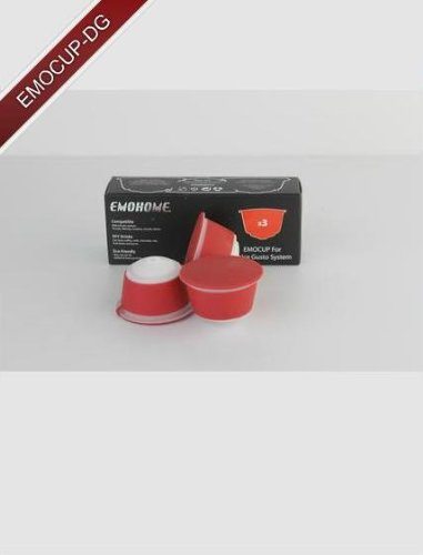 Order DOLCE GUSTO refillable / reusable capsules - 3 capsules per box by EMOHOME