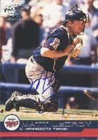Matt LeCroy Minnesota Twins 2001 Pacific Autographed Hand Signed Trading Card -... by Hall+of+Fame+Memorabilia