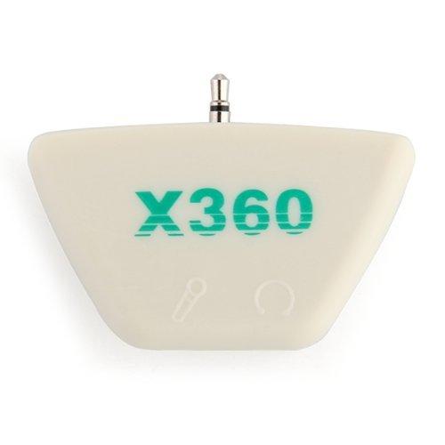Toogoo(R) Earphone Headset Headphone Mic Adapter Converter For Xbox 360 White