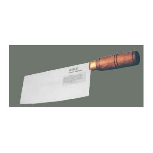Winco Chinese Cleaver With Wood Handle 3 1/2 Inch Wide Blade -- 1 Each.