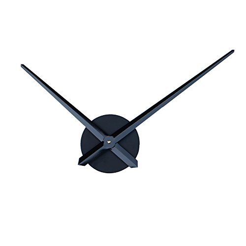 Reliable_E Aluminum Clock Hands Power Movement DIY Wall Clock Kit (Black) (Extra Large Clock Hands Kit compare prices)