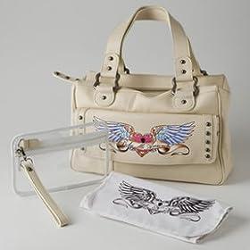 Divine Breckin's Camel Leather Diaper Bag