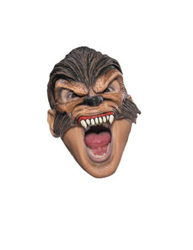 Wolfman Chinless Adult Mask Halloween Costume - Most Adults