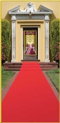 Beistle - 50087 - Red Carpet Runner - Pack of 6