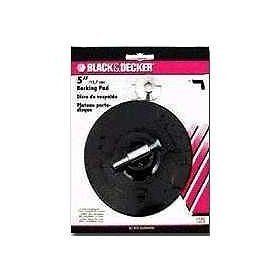 Black & Decker U1302 Backing Pad with 1/4-Inch Attached Shank, 5-Inch