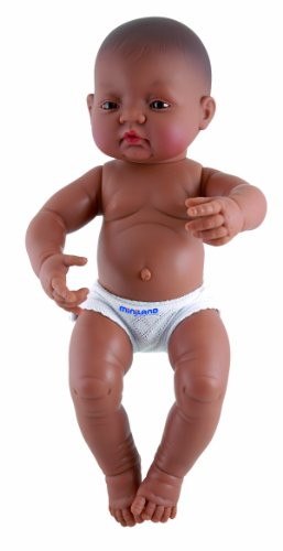 Miniland 15.75'' Anatomically Correct Newborn Baby Doll, Hispanic Boy front-852603