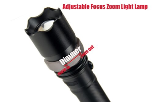 Ultra Bright Zoomable Cree Outdoor 5W Cree Led 500Lm Rechargeable Flashlight Torch With 18650 Battery & Car Charger, 3 Switch Mode