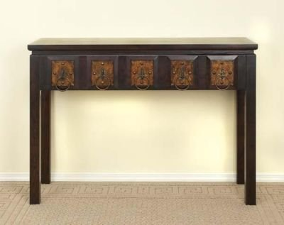 "New Wood Console Table 5 drawers 33""H x 46\""W"