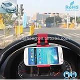 Universal Car Steering Wheel / Bike Handlebar Clip Mount Holder Stand Cradle For Apple IPhone 5 5S 5C 4S 4, IPod...