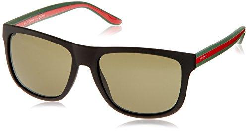 Gucci - GG 1118/S, Geometrico, INIETTATO/PROPRIONATO, uomo, BLACK GREEN RED/GREEN(M1A/1E),57/18/145