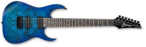 Ibanez Rg Series Rg7421Pb 7-String Electric Guitar Sapphire Blue Flat