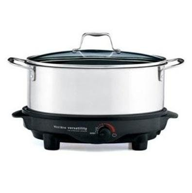 Digital Slow Cookers: Focus Electrics West Bend Versatility 84866 Slow Cooker 275 W 1.50 Gal Stainless Steel Black