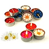 Relax Spa Shop® Daisy Flower Candle Colourful In Tea Lights, Floating Candles, Scented Tea Lights, Aromatherapy...