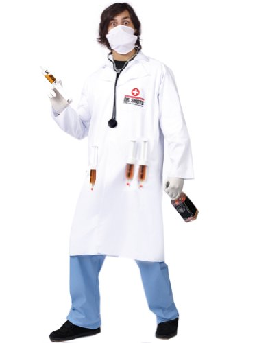 Medical Doctor Costume White Lab Coat Dr Shots Drinking Costume
