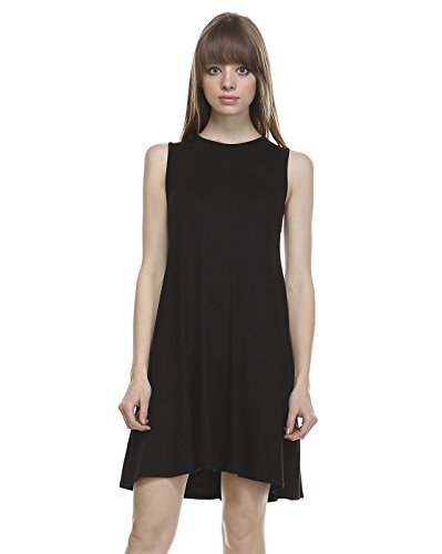 TODAY SHOWROOM Womens Fashion Premium Fabric A-line Swing Dress (1XL, BLACK) (Dress Maker Pant Forms compare prices)