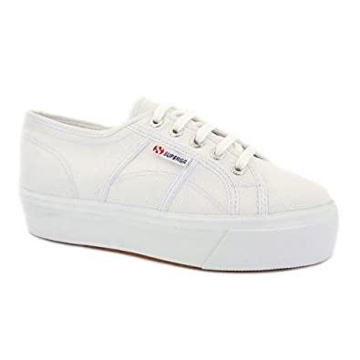 Superga 2790 Acotw Flatform Womens Laced Canvas Trainers White - 7