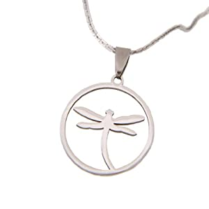 Amazon.com: Dragonfly Jewelry Unique Shiny Stainless Steel Chain Necklace Pendant for Women 20