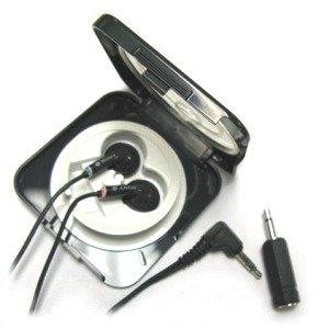 Universal Earphones / Headset In Self Storage Ttavel Kit For Dictation & Transcription Machines