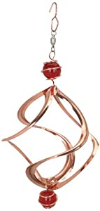 Red Carpet Studios Copper Cosmix Wind Spinner with Top and Bottom Marble, 8-Inch Long