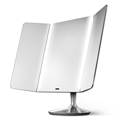 simplehuman-sensor-mirror-pro-wide-view-lighted-vanity-mirror-1x-magnification-adjustable-color-temp