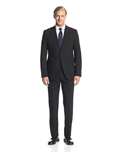 Armani Collezioni Men's 2 Button Notch Lapel Suit