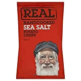 Real Handcooked Sea Salt Potato Crisps 50g x Case of 18