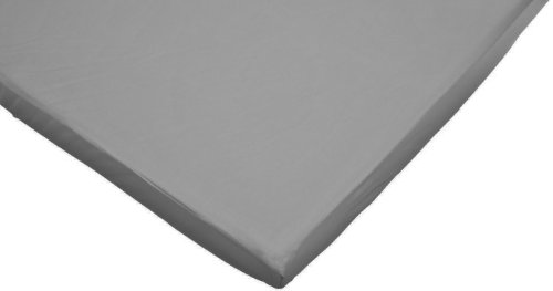 American Baby Company 100% Cotton Jersey Value Knit Portable/Mini Fitted Crib Sheet, Gray