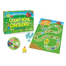 Kid's Board Game - Count Your Chickens Cooperative Board Game (Ages 3-7, 2-4 Players)