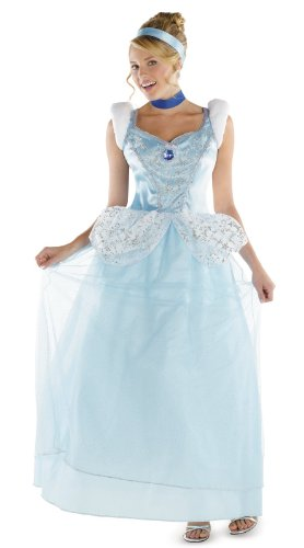 Disguise Disney Cinderella Adult Deluxe Costume, Light Blue/White, XX-Large/22-24