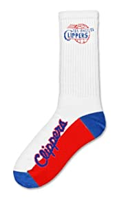 NBA Los Angeles Clippers Mens Crew Socks, Large by For Bare Feet