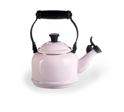 le creuset demi enamel on steel 1 14 quart kettle pink. Black Bedroom Furniture Sets. Home Design Ideas