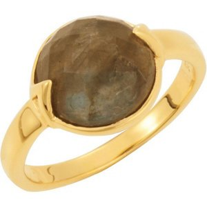 Vermeil Missoma Stackable Rose Chalcedony Ring: Size 6