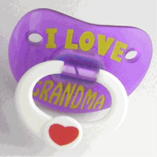 Billy Bob Teeth I Love Grandma Grandmom Baby Pacifier front-840254