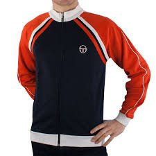 Sergio Tacchini - Felpa Zip Intera New Ghibli Tracktop- Navy/ Red / White (L, Navy/ Red / White)