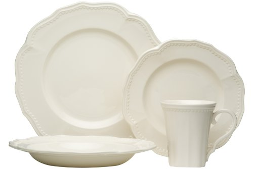 Red Vanilla Classic White 16-Piece Dining Set (Red Vanilla Dishes compare prices)