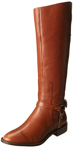 Nine West Women'S Batley Harness Boot,Dark Natural,8.5 M Us